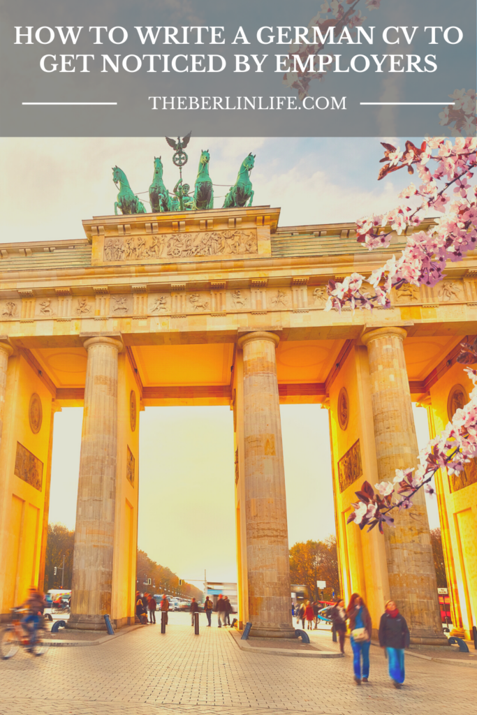 How To Write A German CV To Get Noticed By Employers Pin 1